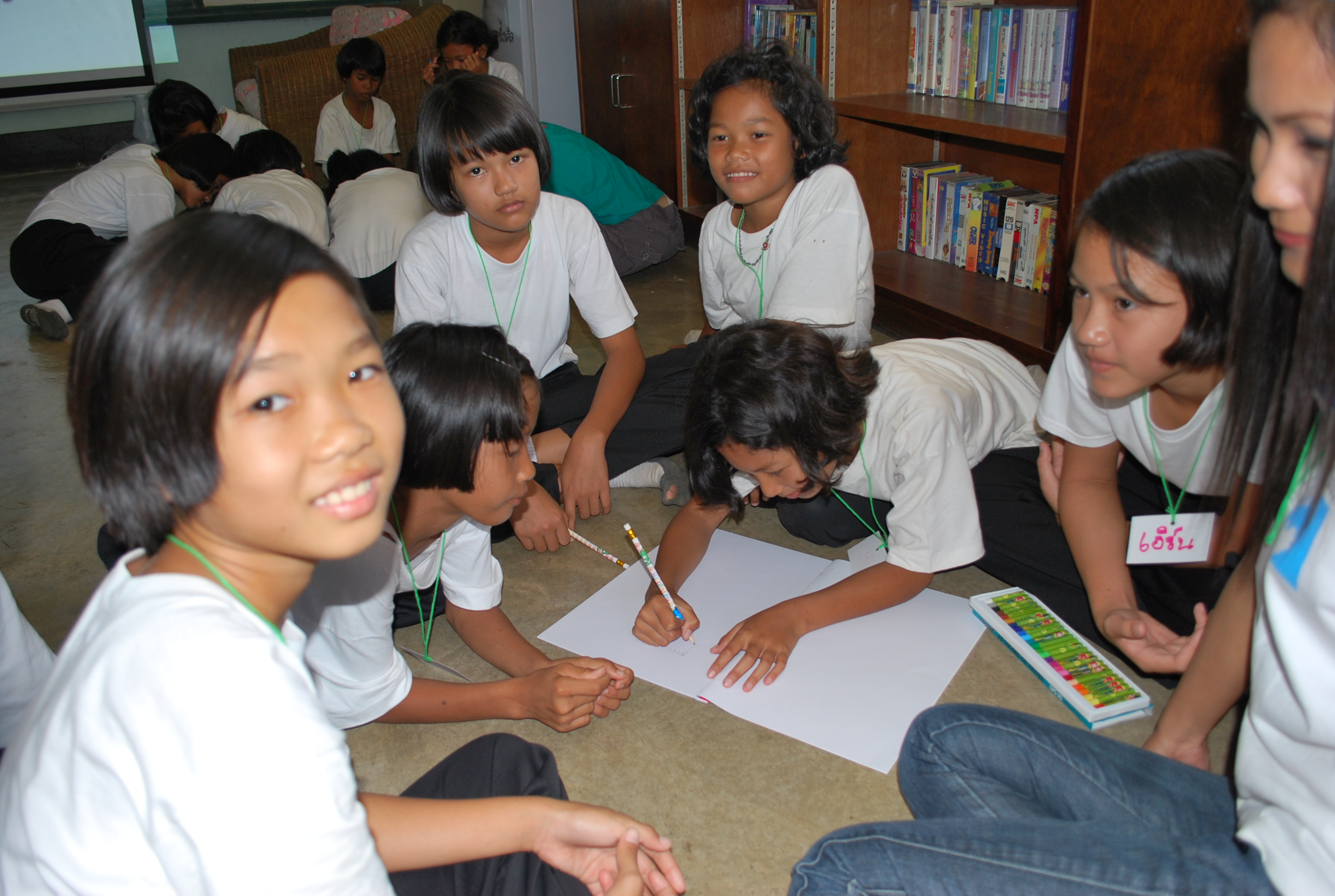 Girls in 'Life Choices' small groups session_Phoo Sai_Chonburi_ email